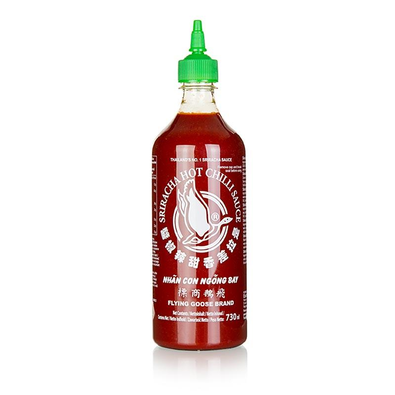 Chili-Sauce - Sriracha, scharf, mit Knoblauch, Squeeze Flasche, Flying Goose,  730 ml - thungourmet