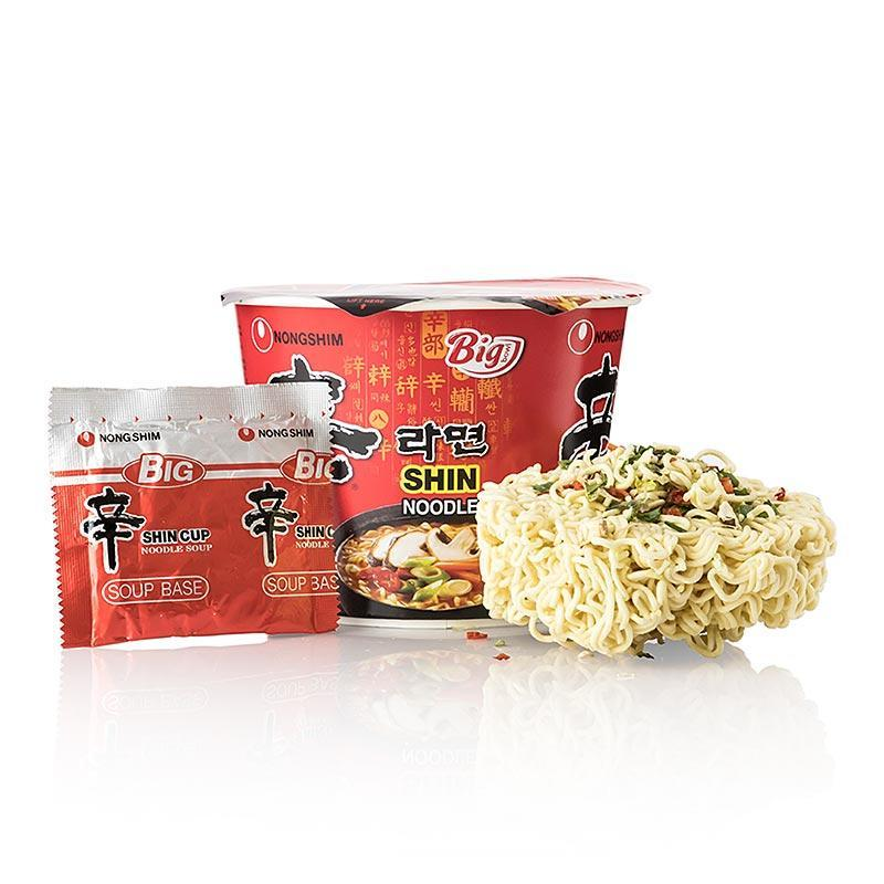 Instant Cup Nudeln Ramyun Shini Big Bowl, sehr scharf, Nong Shim,  114 g