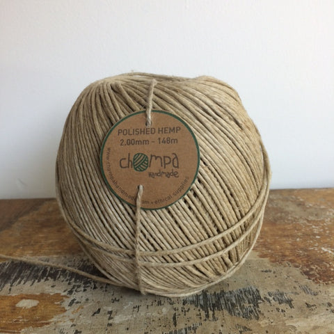 Chompa Handmade Polished Hemp Cord