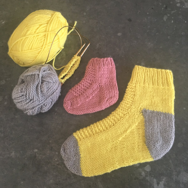 Workshop: Knit a simple top down sock (3 hours)