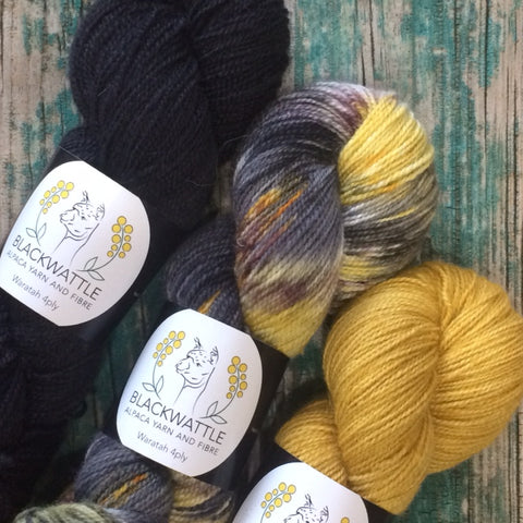 Blackwattle Yarns : Waratah Alpaca 4PLY