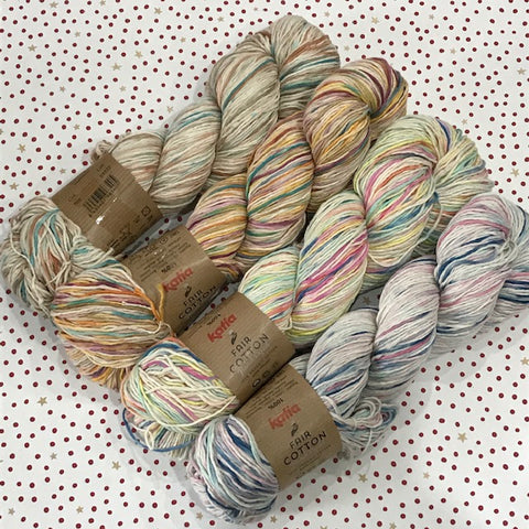 Katia Fair Cotton : hand dyed skeins