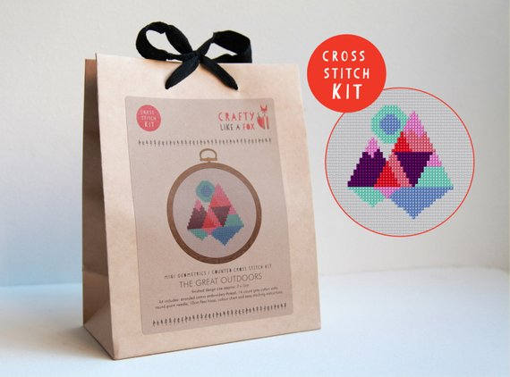 Geometric Mountains Cross Stitch Kits