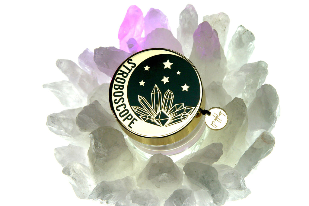 Crystals Logo for Moonplay Cosmetics Stroboscope