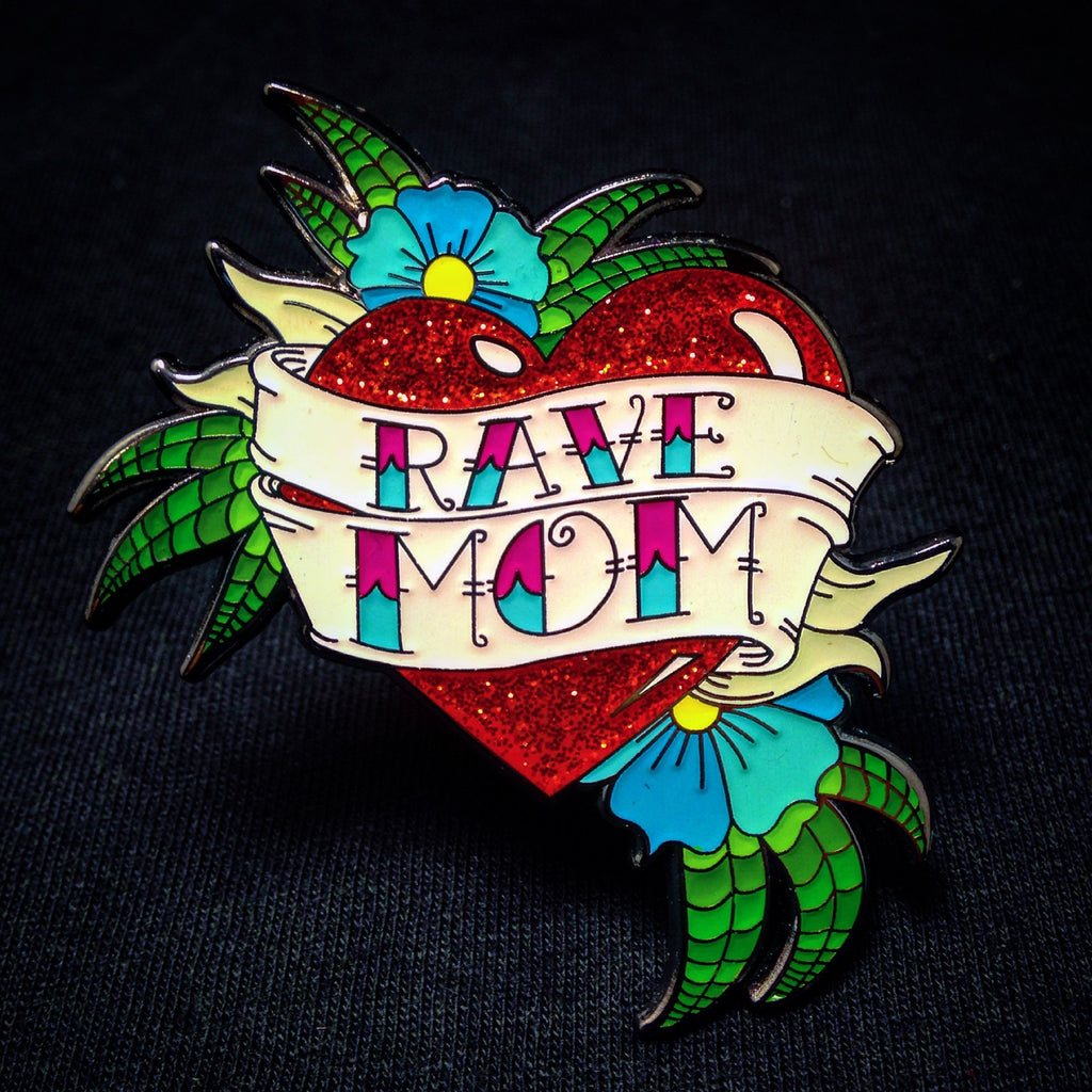Rave Mom American Classic Tattoo Pin