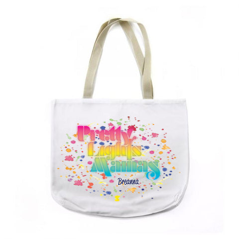 PLM Text Logo Canvas Tote with CUSTOM NAME!
