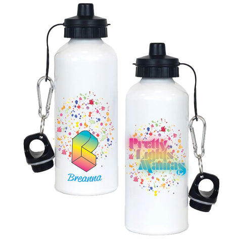 PLM Text Logo Water Bottle- CUSTOM NAME! :)