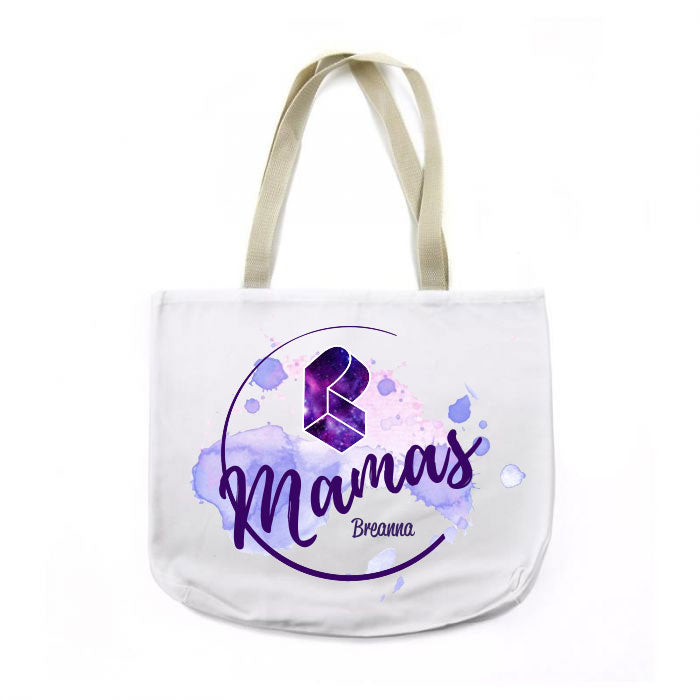 PLM Moon Galaxy Canvas Tote with CUSTOM NAME!