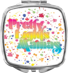 Pretty Lights Mama's Text Logo Mirror Compact
