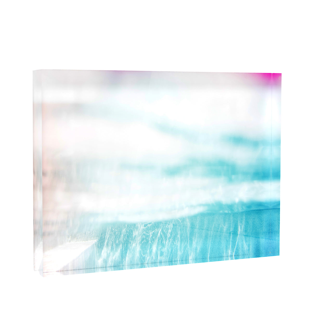 Lucite Block : Pop of Pink Poolscape