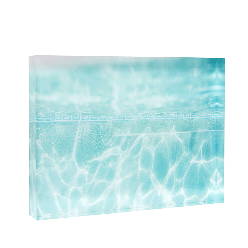 Acrylic Block : Blue Greek Poolscape