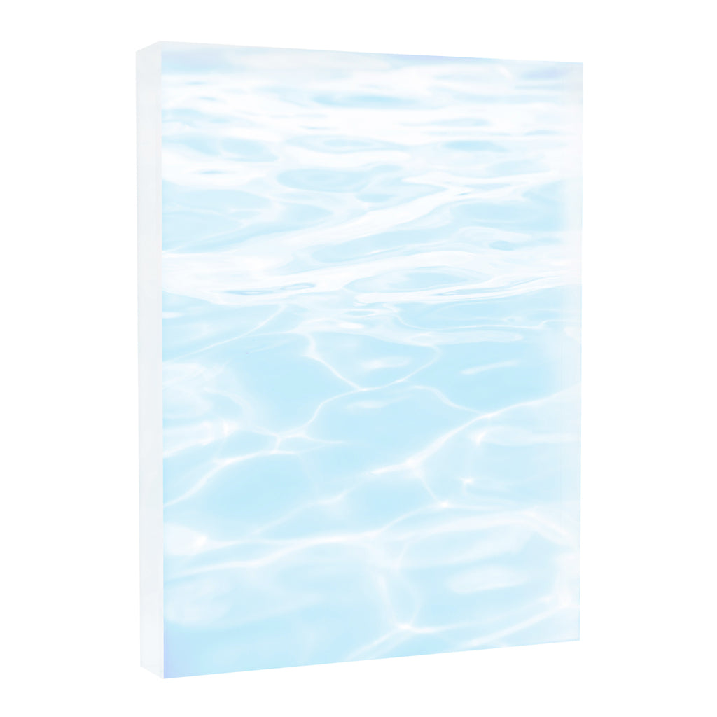 Acrylic Block : Cool Blue Water