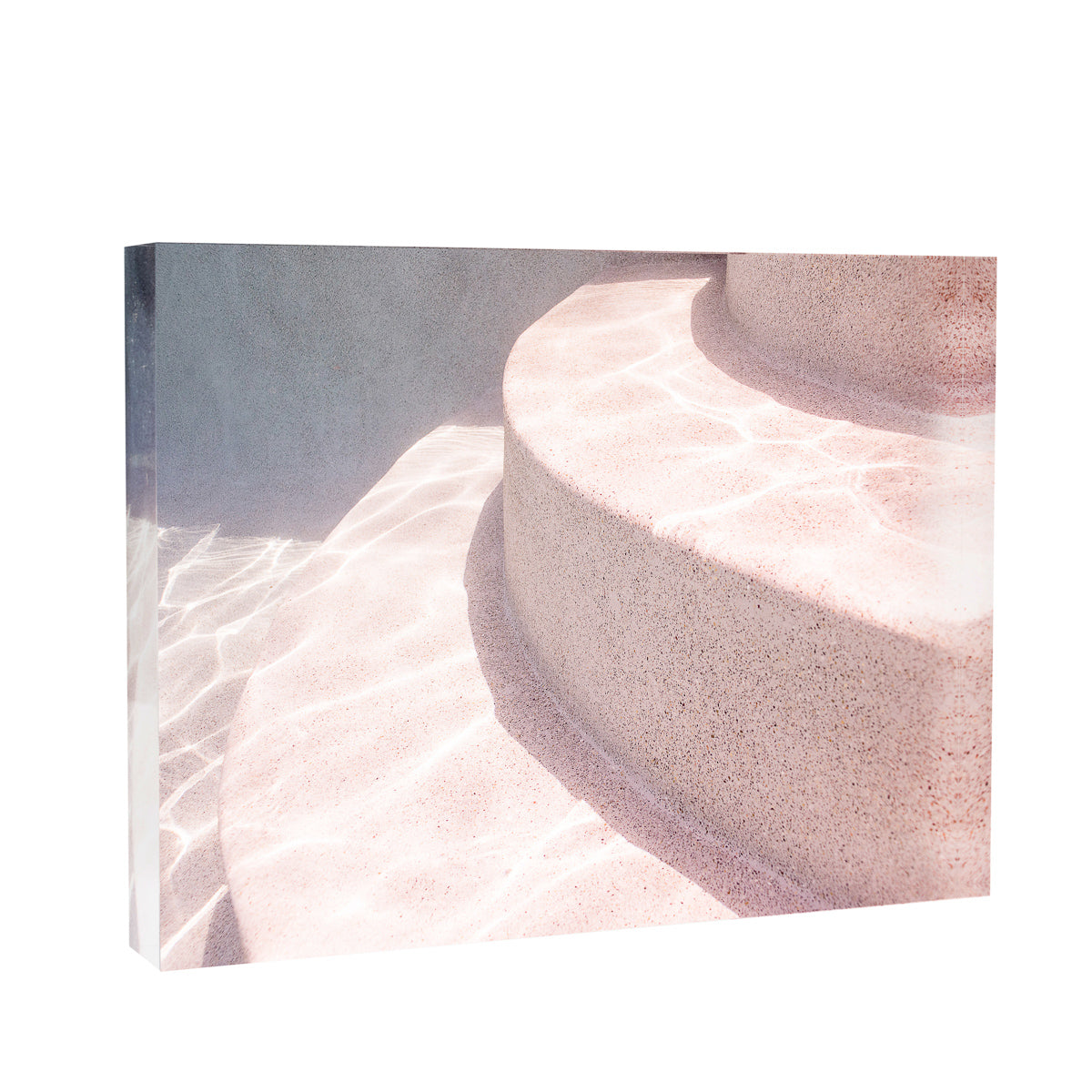 Lucite Block : Pink Pool Steps
