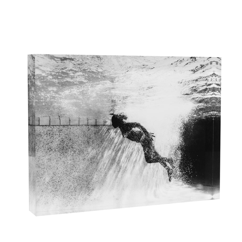 Acrylic Block : BW Swimmer