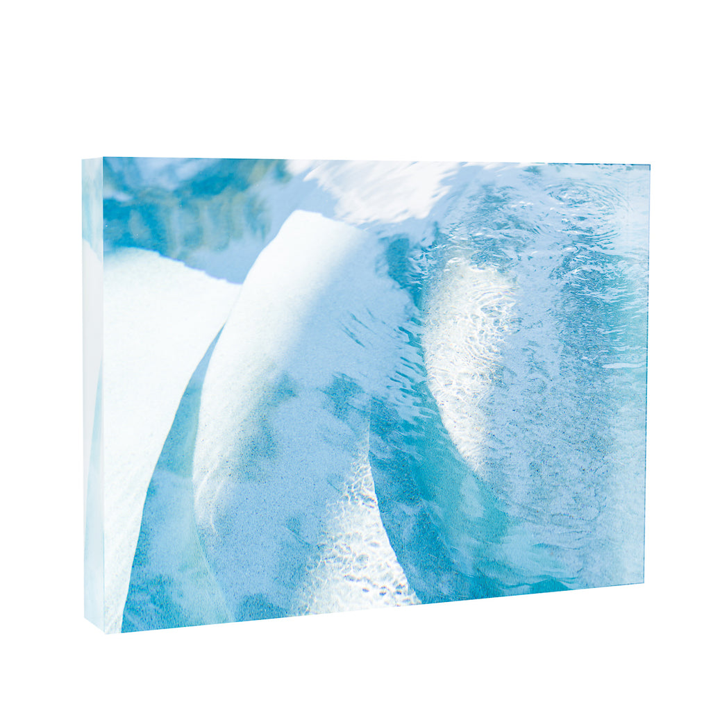 Lucite Block : Curved Blue Poolscape
