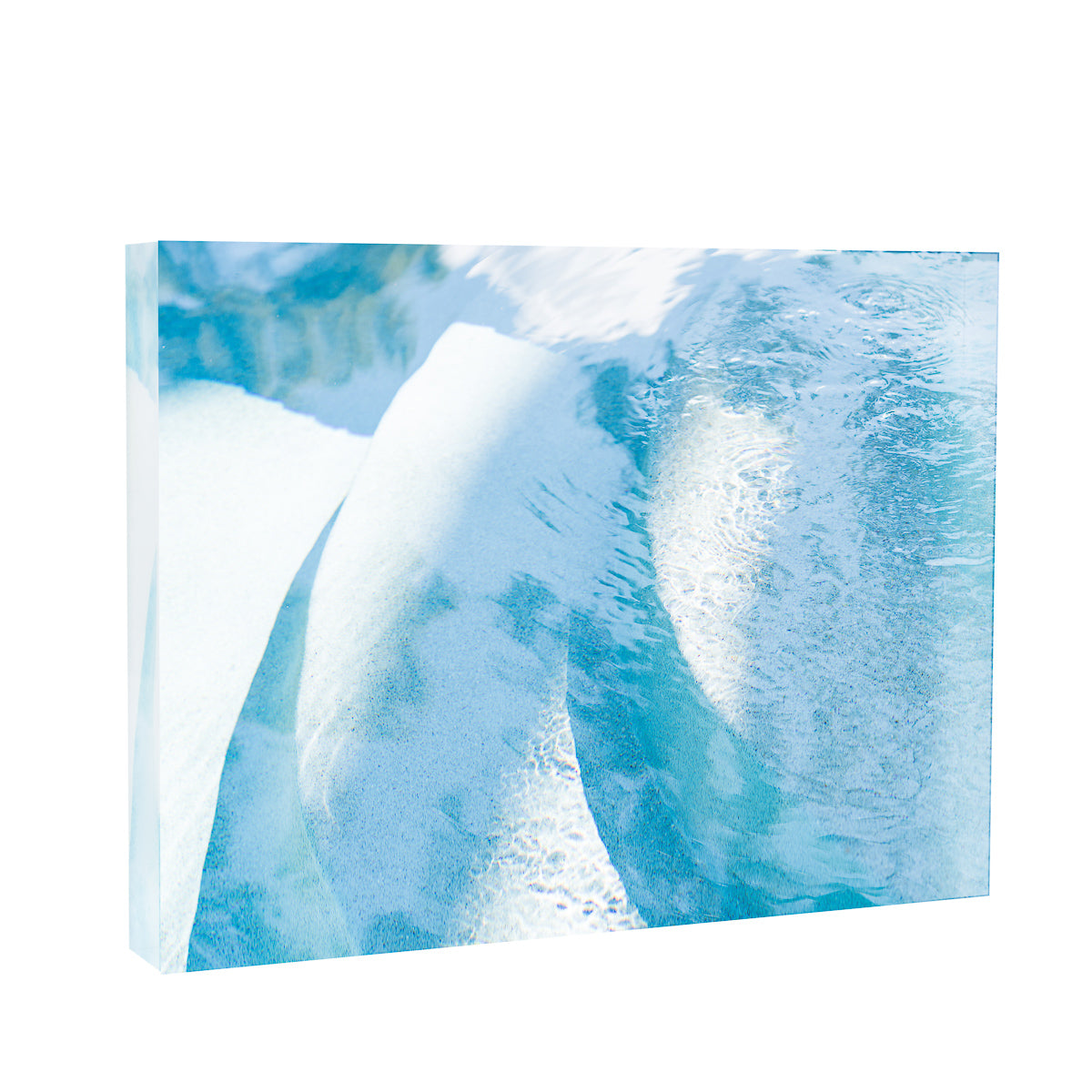 Acrylic Block : Curved Blue Pool