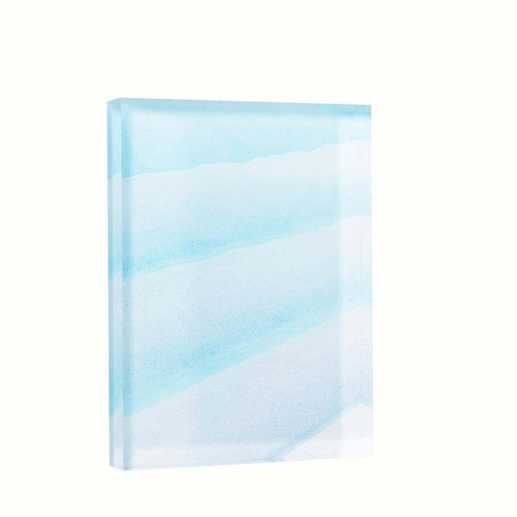 Lucite Block : Blue Ombre Poolscape