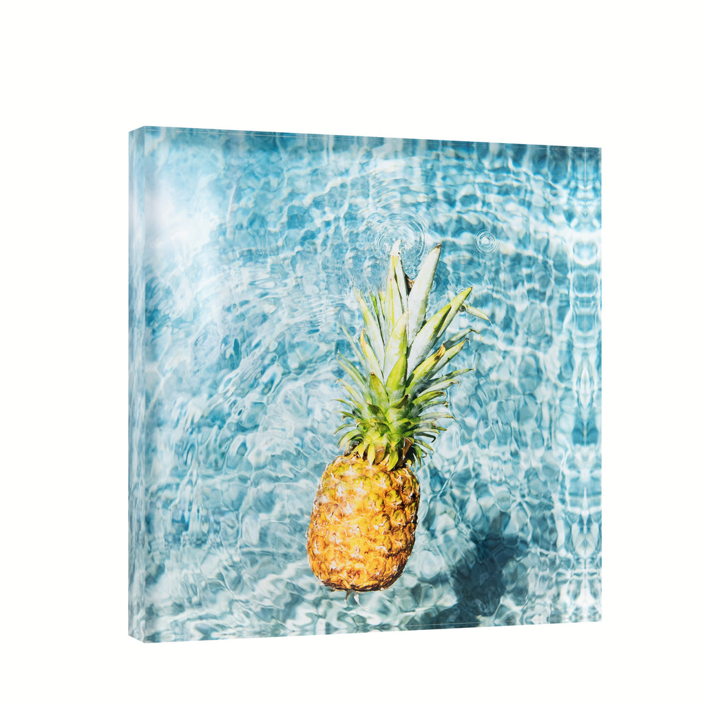 Lucite Block : Day Pineapple