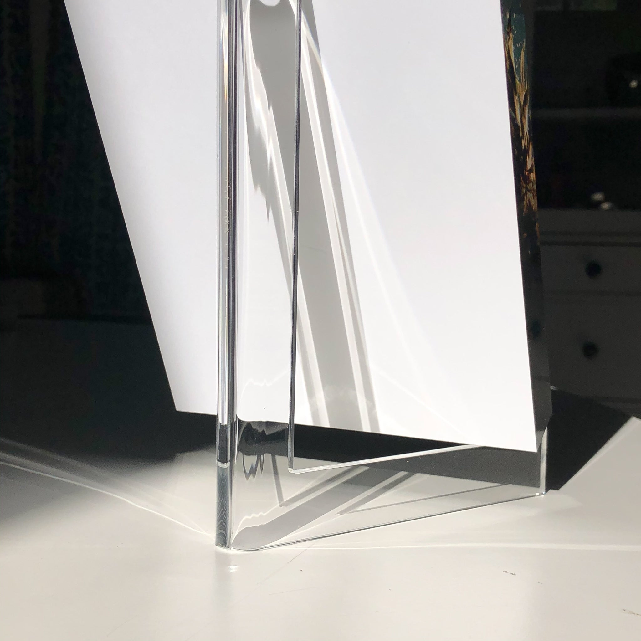 Lucite Block Easel