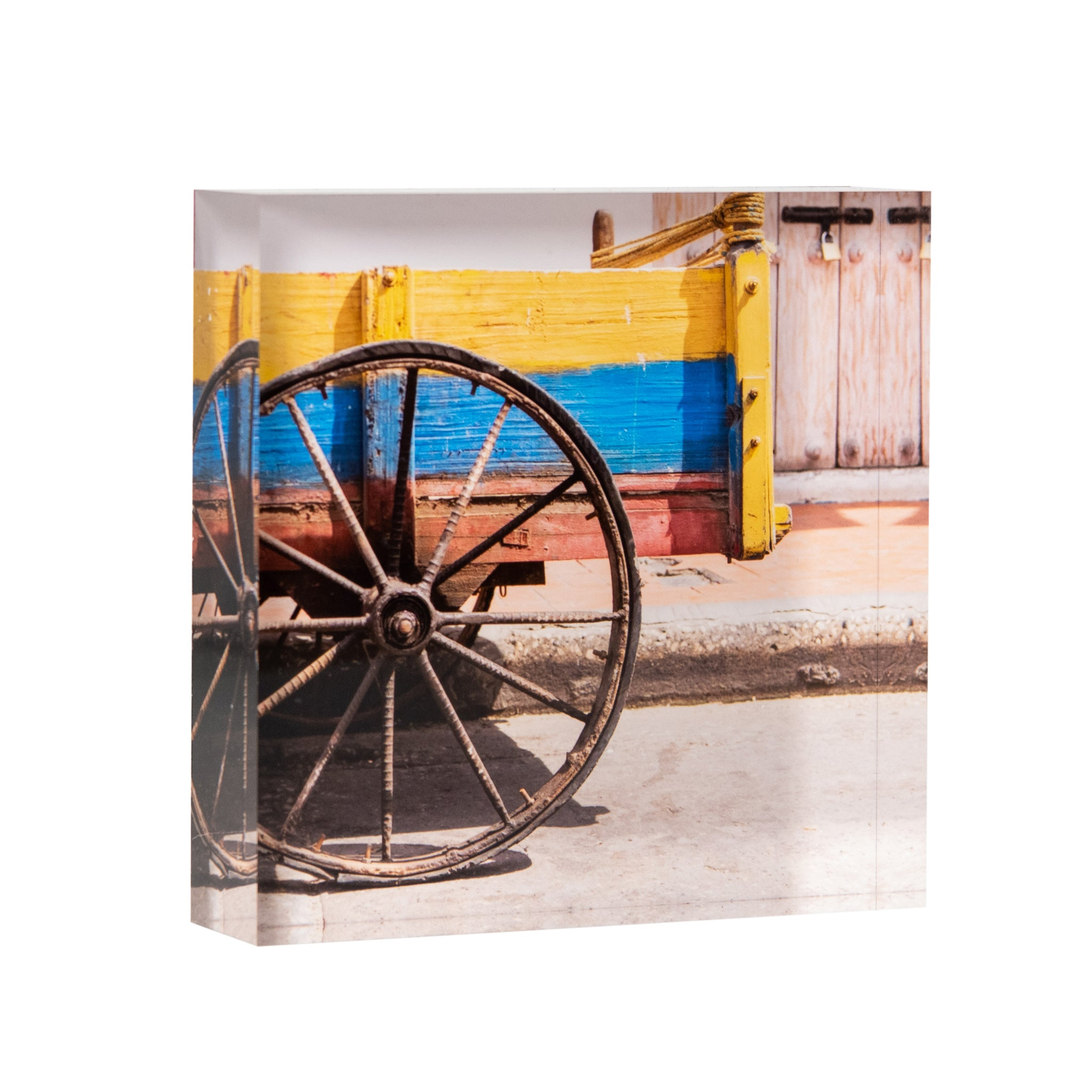 Lucite Block : Wheel