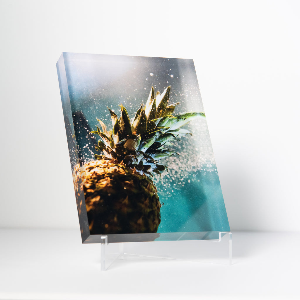 Lucite Block : Night Pineapple