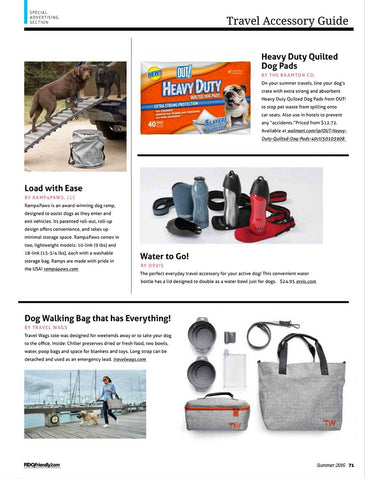 Travel Wags Dog Walking Bags Fido magazine