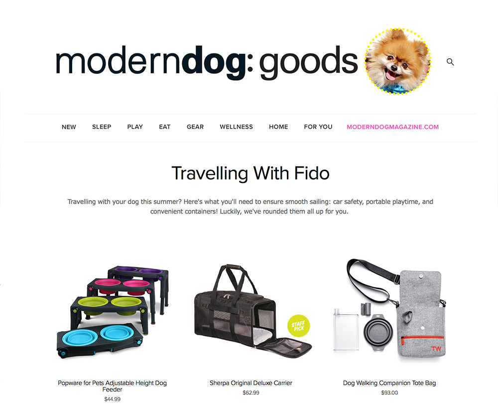 Travel Wags Dog Walking Bags As Seen Modern Dog Online