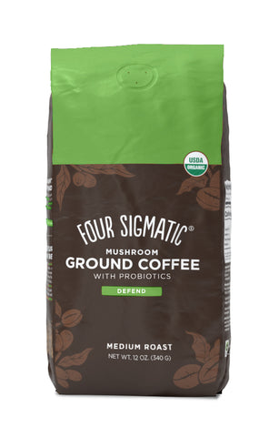 GROUND MUSHROOM COFFEE WITH PROBIOTICS (8-PACK) NEW