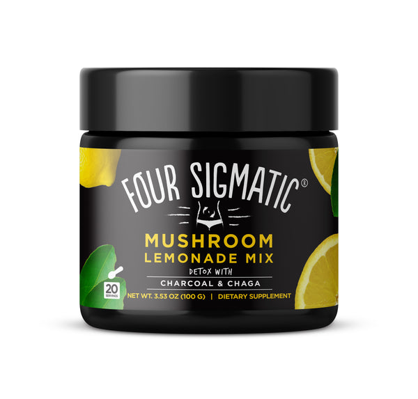 Mushroom Lemonade with Charcoal & Chaga (4-pack)