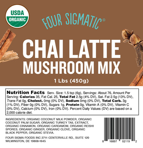 Bulk Chai Latte with Turkey Tail and Reishi 1lb bag (limit 10 units/order)