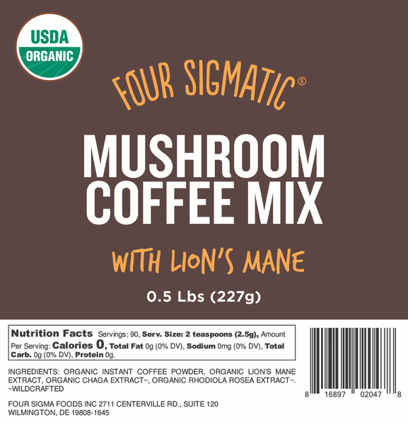 Bulk Mushroom Coffee with Lion's Mane 1/2 lb. Bag (Limit 10 units/order)