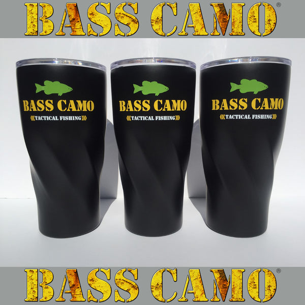 Bass Camo Tactical Fishing 20oz Copper Vacuum Insulated Tumbler.