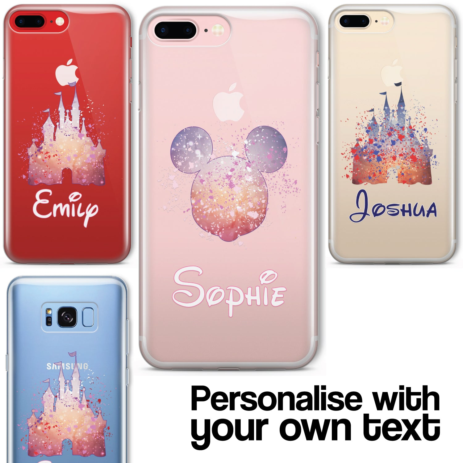 3495503c3 Details about Cartoon Movie PERSONALISED CLEAR TPU Phone Cover Case for  iPhone & Samsung Disne