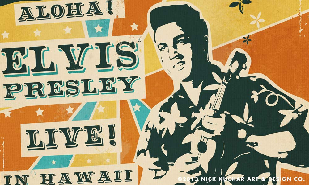 Vintage Hawaiian Poster for the Elvis Foundation
