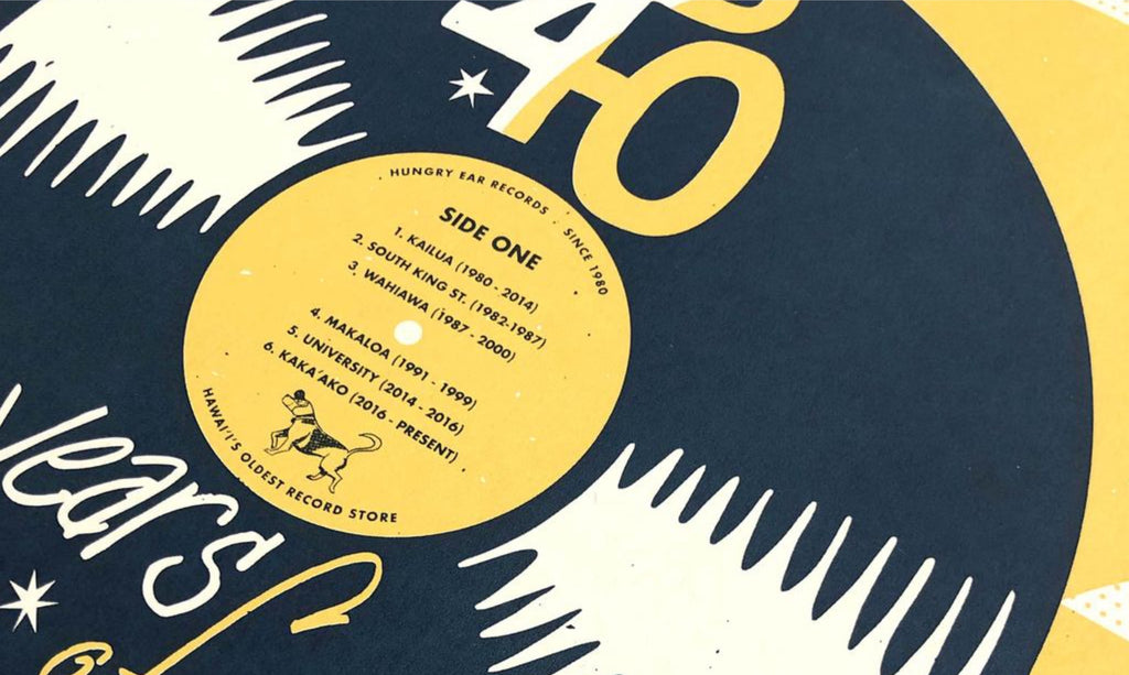 Hungry Ear Records 40th Anniversary Print