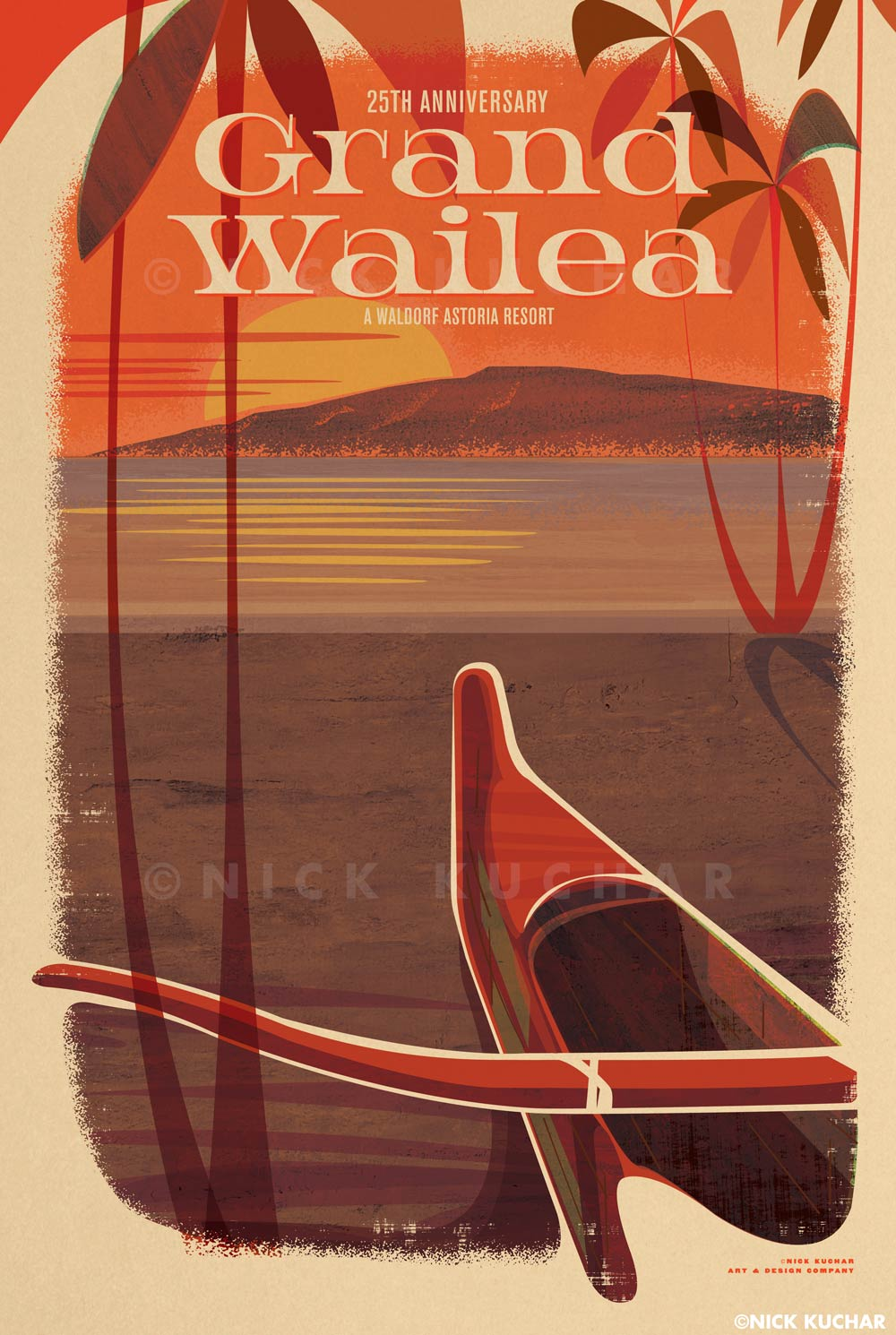nick-kuchar-vintage-inspired-grand-wailea-sunset-print