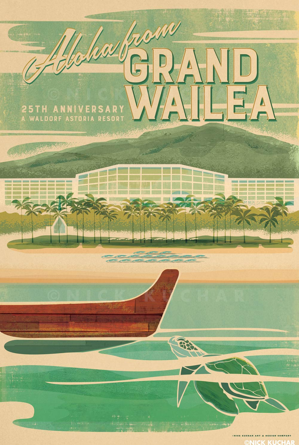 nick-kuchar-vintage-grand-wailea-travel-poster