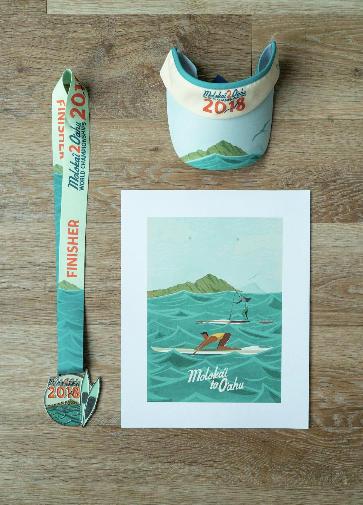 Nick Kuchar Molokai 2 Oahu Race Art Merchandise