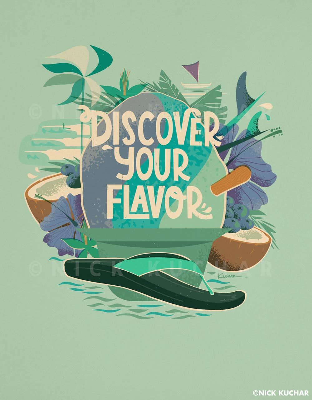 Nick Kuchar Discover Your Flavor digital campaign artwork