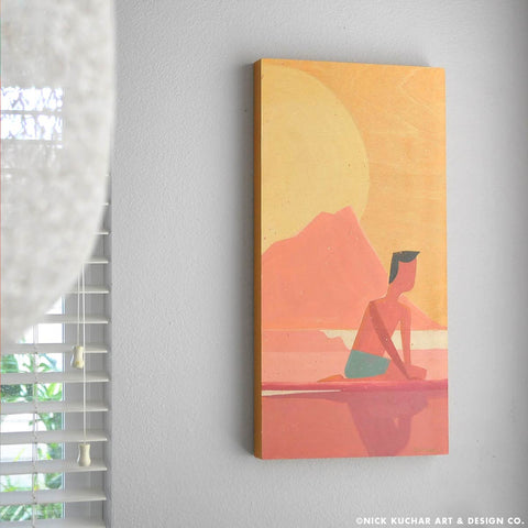 "Sunrise Paddle Out - 12""x24"" - Original"