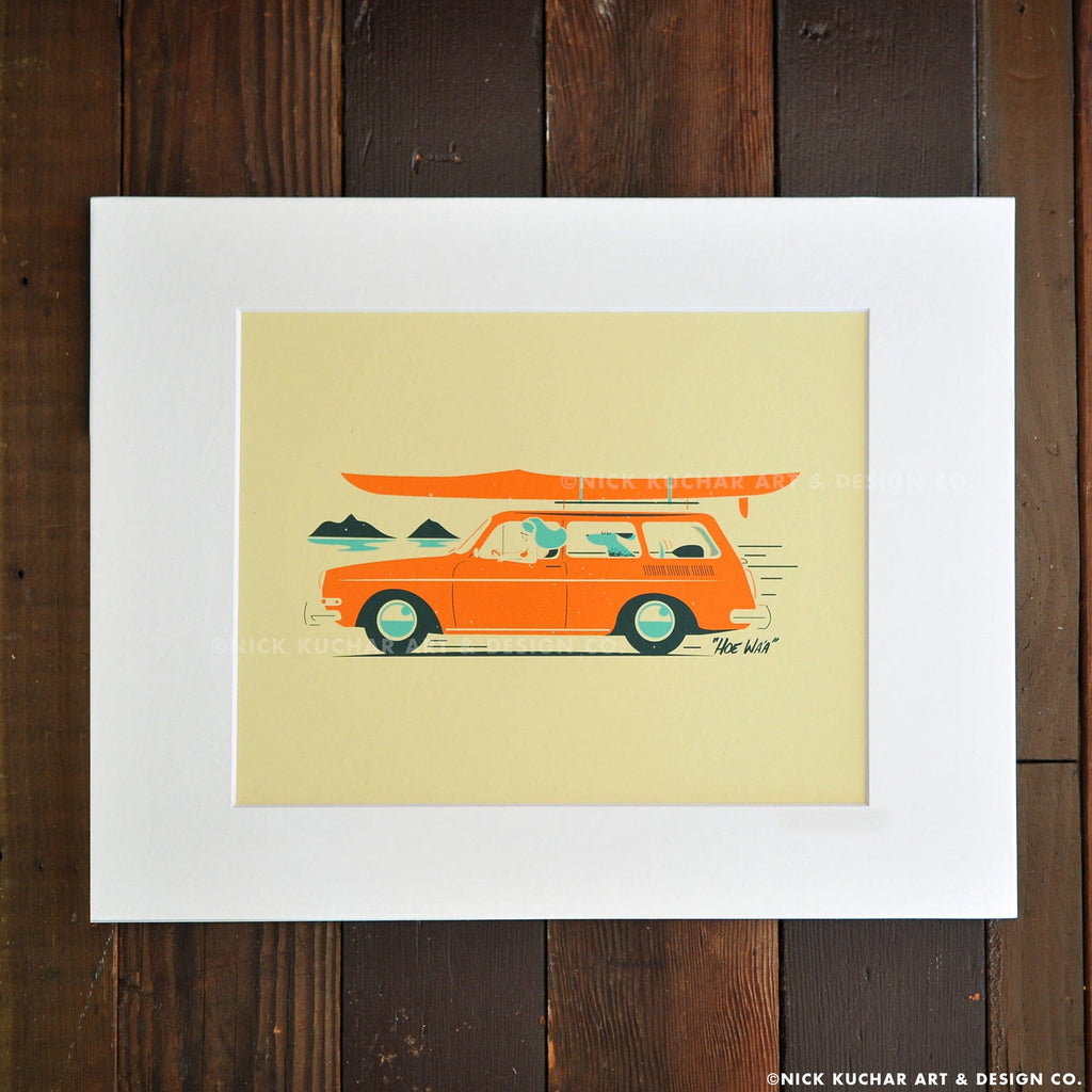 Mokuluas - The Mokes Hawaii Matted Print