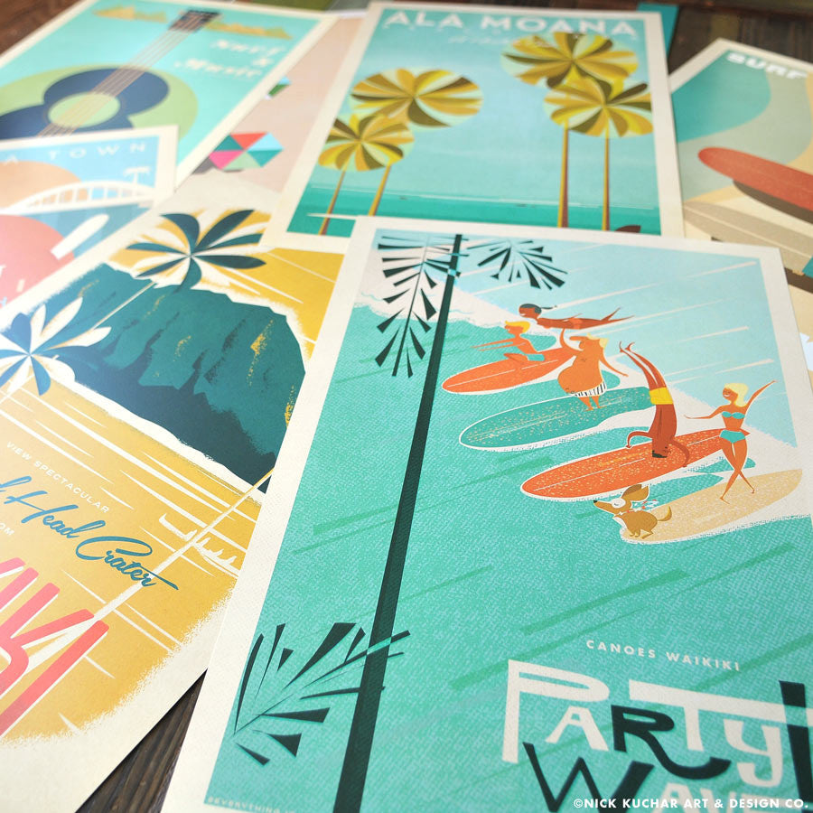 THE PICK 3 - Retro Hawaii Travel Prints