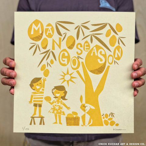 Mango Season - 12x12 Limited Edition Screen Print