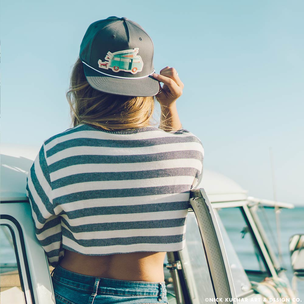 "Retro Surf Hawaii Hat ""Van Life"""