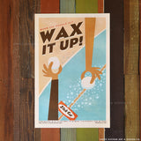 He'e Nalu Hawaii Surf Print Series Wax It Up Print