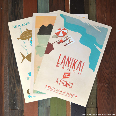 Windward Oahu - Retro Hawaii Print Series