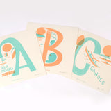 Alphabet Surf Spots - 12x12 Limited Edition Screen Print Set of 3