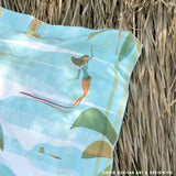 "Surfer Towel Retro Hawaii Style ""Kama'aina"" Microfiber Beach Towel"
