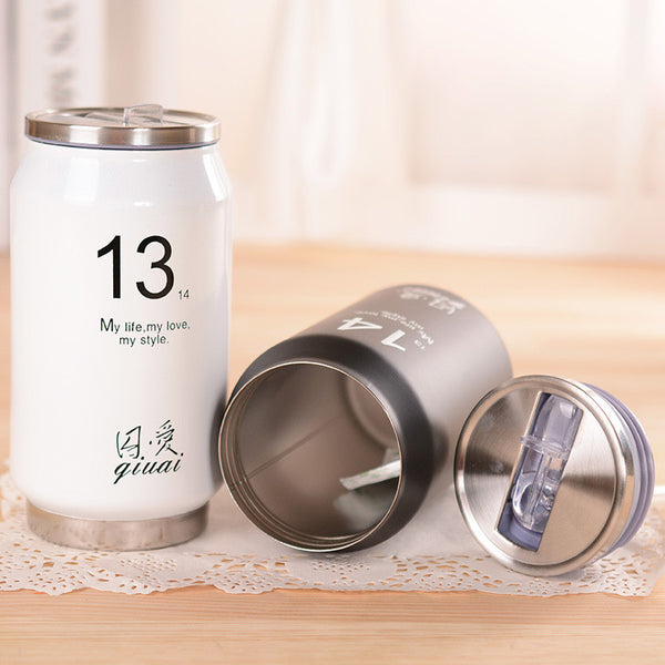 Japanese Minimalist Stainless Steel Vacuum Bottle