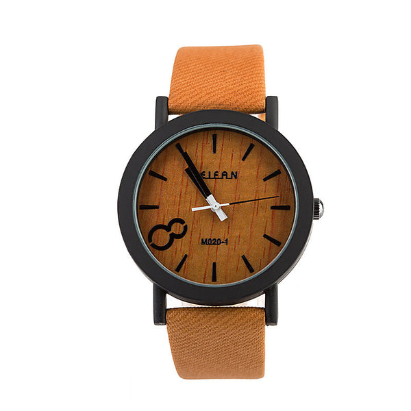 Simulated Wood Quartz Watch
